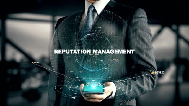 Businessman with Reputation Management