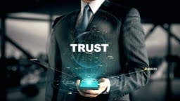 Businessman with Trust