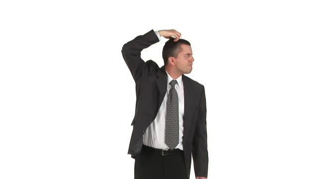 hd: businessman wondering - looking around stock videos & royalty-free footage