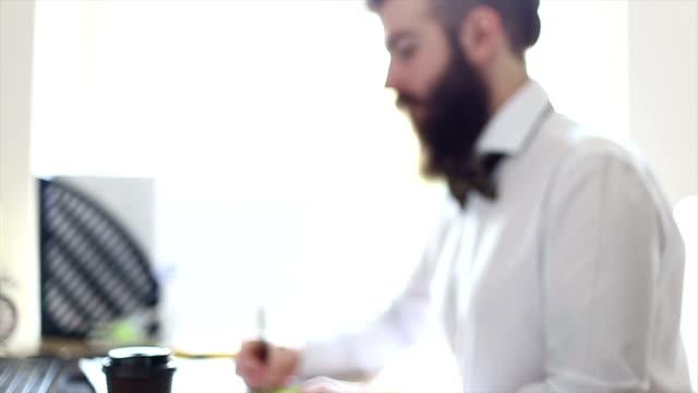 businessman working in a modern office - metrosexual stock videos & royalty-free footage
