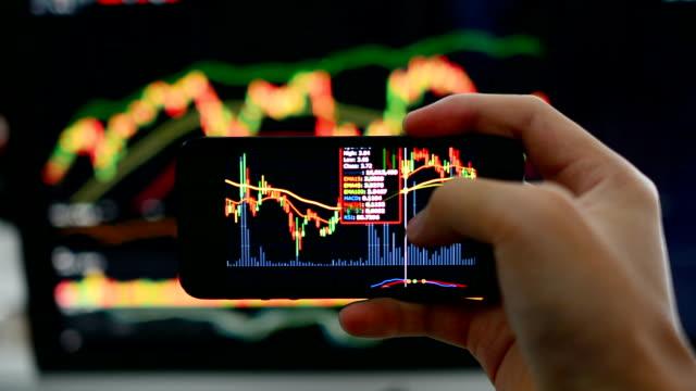 ビジネスマンの仕事のスマートフォンやコンピューター - 金銭に関係ある物点の映像素材/bロール