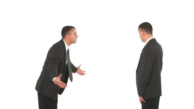 stockvideo's en b-roll-footage met hd: businessmen arguing - overhemd en stropdas