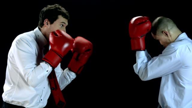 HD SLOW MOTION: Businessmen Boxing