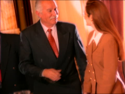 2 businessmen + businesswoman standing up + shaking hands at end of meeting - board room stock videos & royalty-free footage