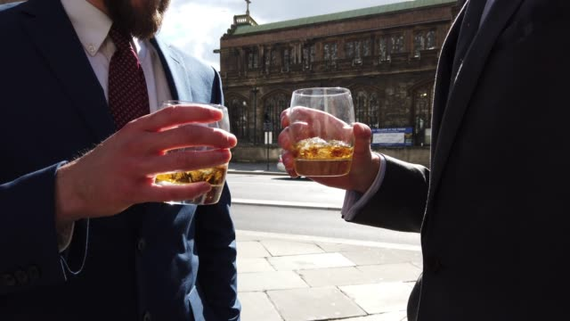 Businessmen colleagues on the go in the City - Central London