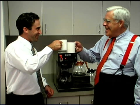 businessmen getting coffee - coffee drink stock videos & royalty-free footage