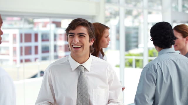 businessmen laughing together - neckwear stock videos and b-roll footage