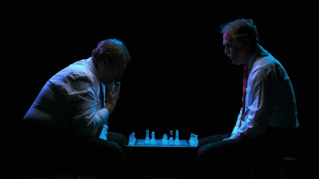 hd: businessmen playing chess - business relationship stock videos and b-roll footage