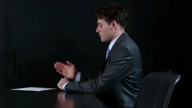 businessmen shaking hands at end of job interview - standing stock videos & royalty-free footage
