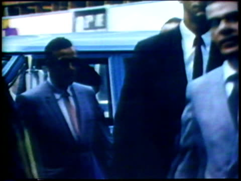 1973 montage ms businessmen walking on busy city street/ usa/ audio - 1973 stock videos and b-roll footage