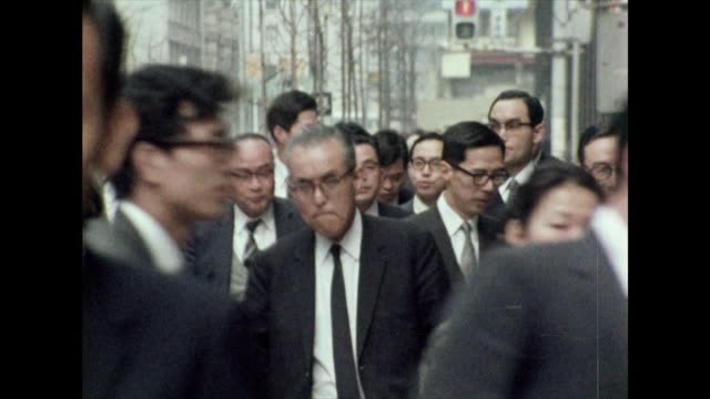 businessmen walking to work in tokyo; 1972 - 1972 stock videos & royalty-free footage