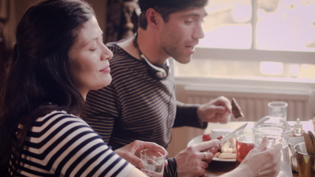 businesspeople dining at a restaurant - テーブルマナー点の映像素材/bロール