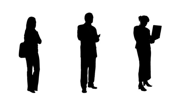 businesspeople silhouettes - silhouette stock videos & royalty-free footage