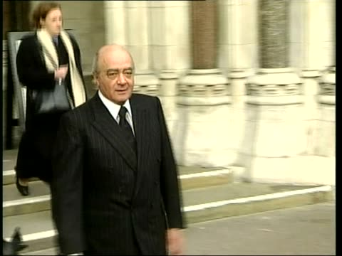 al fayed libel case neil hamilton in witness box itn london high court al fayed along alone pan cms neil and christine towards track back across road... - christine last stock-videos und b-roll-filmmaterial