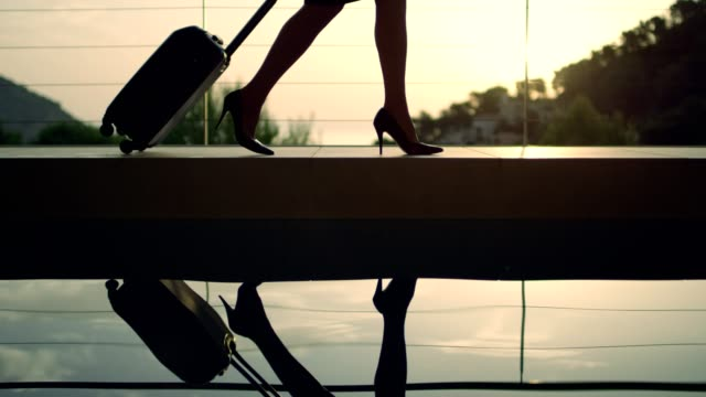businesswoman arriving to a luxurious spa hotel - tourist resort stock videos and b-roll footage