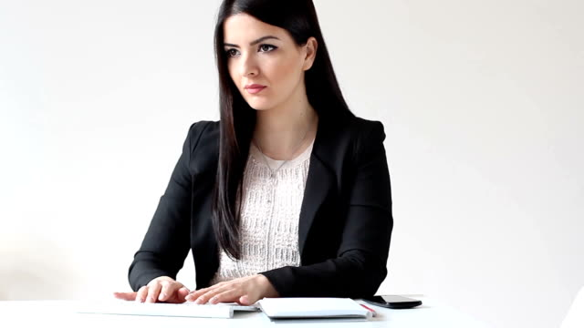 businesswoman at work - black hair stock videos & royalty-free footage