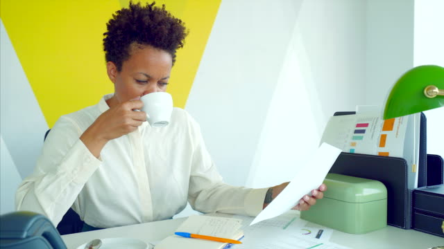 businesswoman at work. - director stock videos and b-roll footage