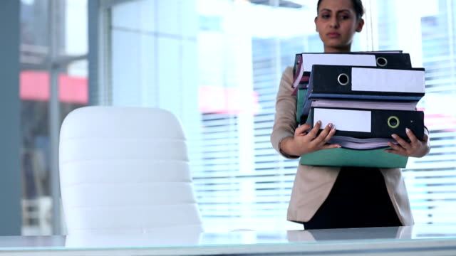 businesswoman carrying stack of folders, delhi, india - akte stock-videos und b-roll-filmmaterial