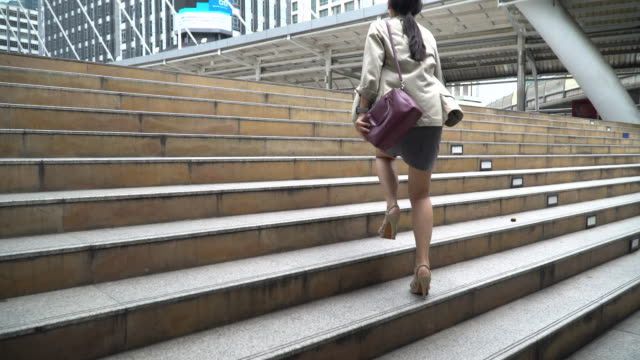 businesswoman commute to work - urgency stock videos & royalty-free footage