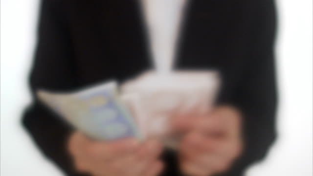 businesswoman counting euro bills sweden. - corruption stock videos and b-roll footage