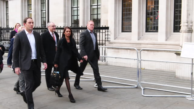 businesswoman gina miller arrives at the supreme court for the second day of a hearing into whether parliament's consent is required before the... - 2日目点の映像素材/bロール