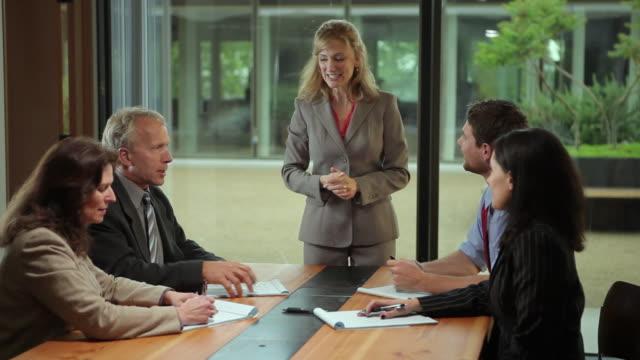 MS Businesswoman leading meeting / Portland, Oregon, USA