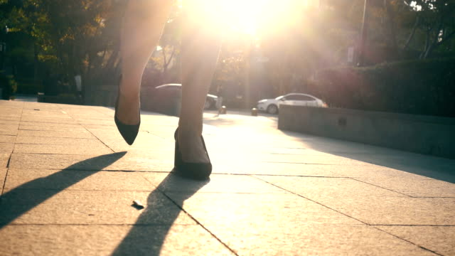 businesswoman legs walking in city - high heels stairs stock videos & royalty-free footage