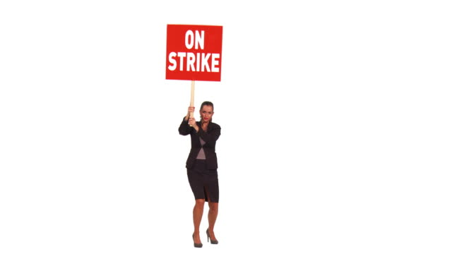 HD: Businesswoman On A Strike