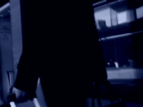 vídeos de stock e filmes b-roll de businesswoman on a train sweden. - trabalhadora de colarinho branco