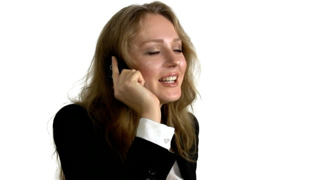 Businesswoman on the mobile phone