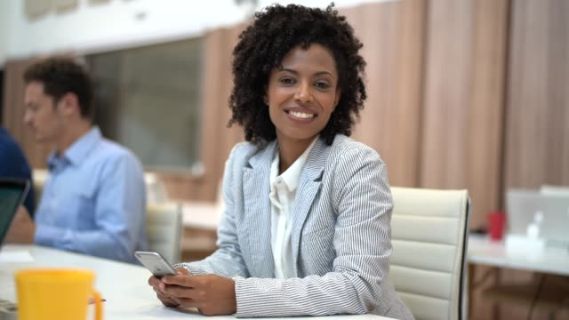 Businesswoman Portrait at Business Meeting