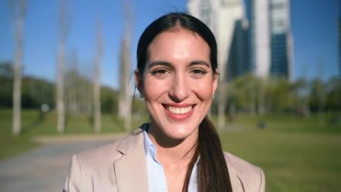 businesswoman portrait - argentinian ethnicity stock videos & royalty-free footage