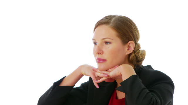 Businesswoman talking to colleague