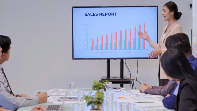 businesswoman team leader presenting project strategy showing ideas on digital interactive whiteboard in office.business,people,education,success,leadership,teamwork,high-tech meetings and technology concept - interactive whiteboard stock videos & royalty-free footage