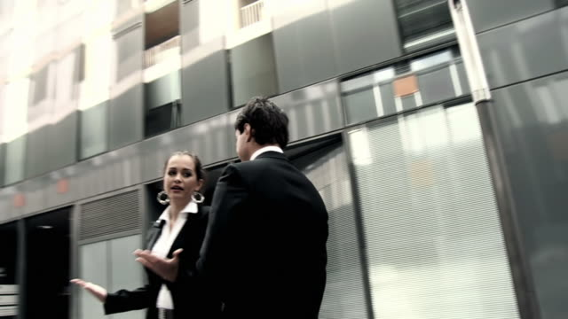 HD SLOW-MOTION: Businesswoman Tellling Off