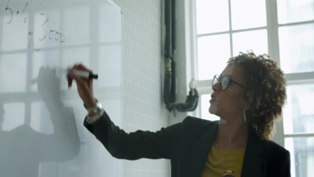 businesswoman - whiteboard stock videos & royalty-free footage