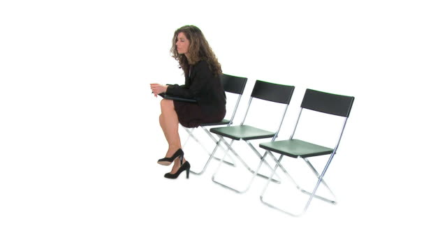 hd: businesswoman - cross legged stock videos & royalty-free footage