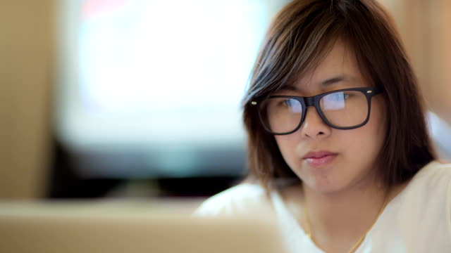 Businesswoman watching trend of Information global