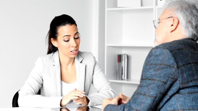 Businesswoman with client