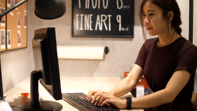 businesswoman work at office desk - sales occupation stock videos and b-roll footage