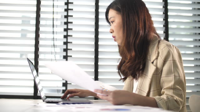 businesswoman working in office - only japanese stock videos & royalty-free footage