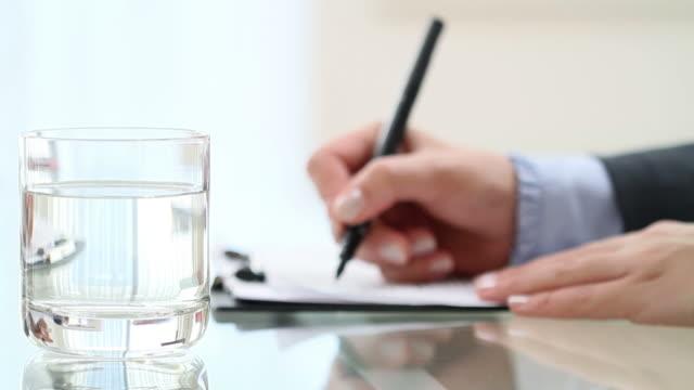 Geschäftsfrau Schreiben