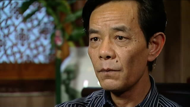 businesswoman wu ying on death row for fraud father interview various of wu yong zheng showing reporter letters from wu ying wu yong zheng interview... - mao stock videos and b-roll footage