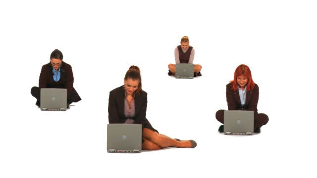 HD MONTAGE: Businesswomen With Laptops