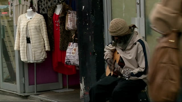 busker gets second chance at stardom; **music heard sot** wenna and cargill walking towards on busy street **cargill interview partly overlaid sot**... - pavement点の映像素材/bロール