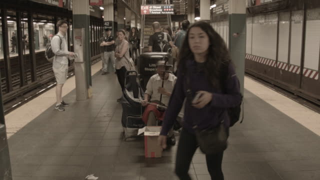 busker new york subway - street performer stock videos and b-roll footage