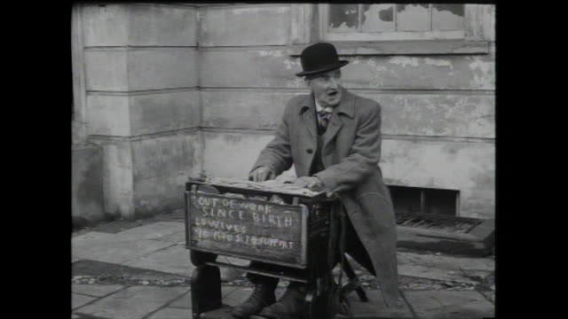 busker plays portable harmonium; 1959 - 1959 stock videos & royalty-free footage