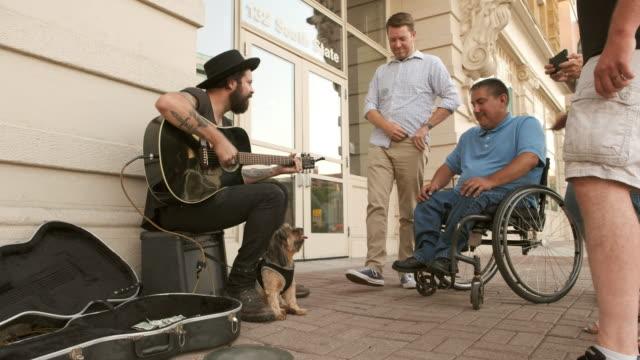 busking street musician - street performer stock videos & royalty-free footage