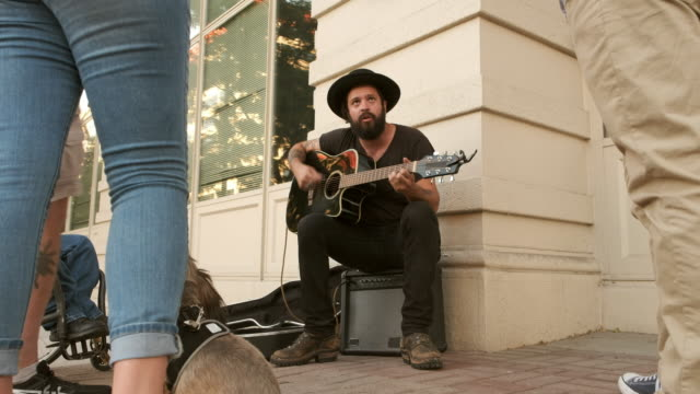 busking street musician - performer stock videos & royalty-free footage