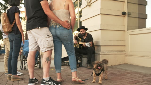 busking street musician - musician stock videos & royalty-free footage
